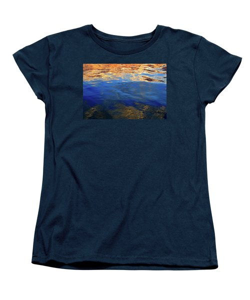 The Surface Is A Reflection  Women's T-Shirt (Standard Cut) by Lyle Crump