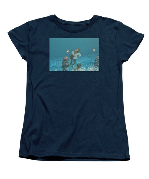 The Swimming Pool Women's T-Shirt (Standard Cut) by Patricia Hofmeester