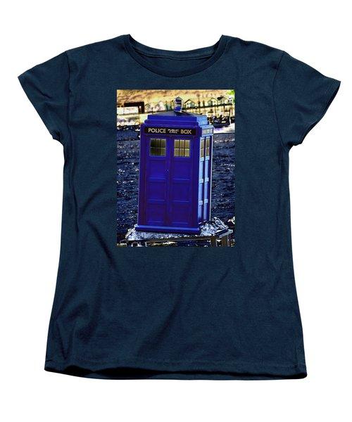 The Tardis Women's T-Shirt (Standard Cut) by Steve Purnell