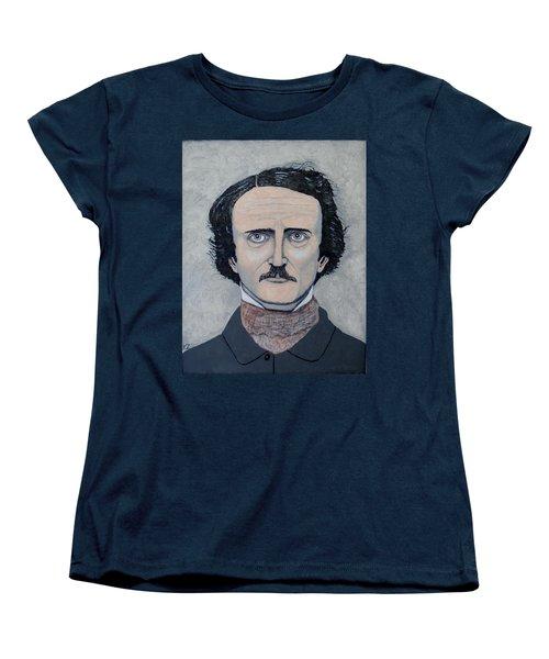 The Telltale Heart Of Edgar Allen Poe. Women's T-Shirt (Standard Cut) by Ken Zabel