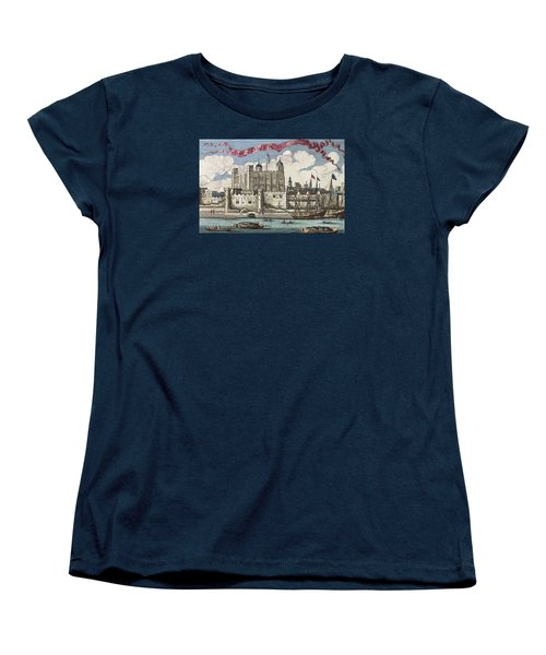 The Tower Of London Seen From The River Thames Women's T-Shirt (Standard Cut) by English School