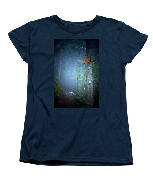 Women's T-Shirt (Standard Cut) featuring the photograph The Trail by Tara Turner