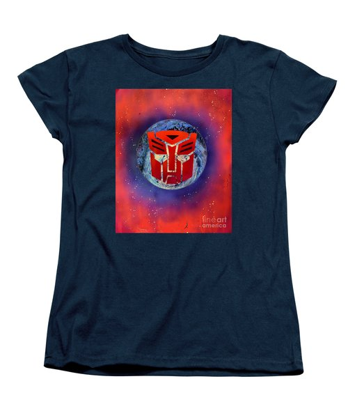 The Transformers Women's T-Shirt (Standard Cut) by Justin Moore