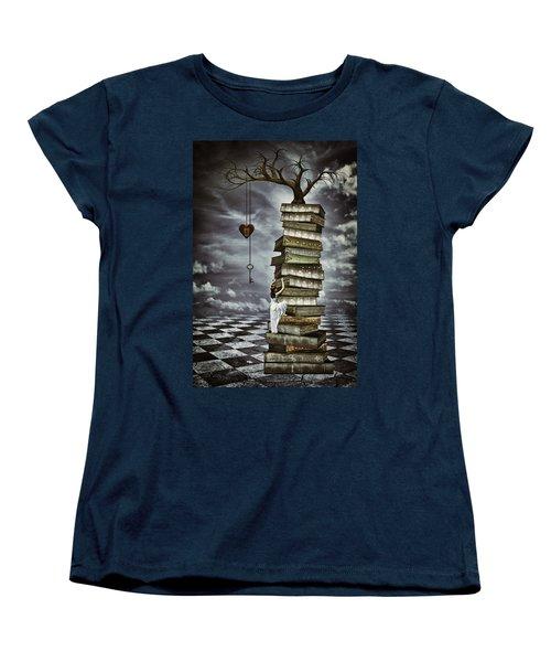 The Tree Of Love Women's T-Shirt (Standard Cut) by Mihaela Pater