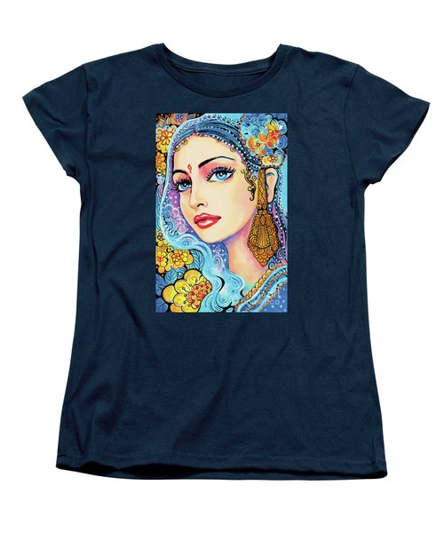 Women's T-Shirt (Standard Cut) featuring the painting The Veil Of Aish by Eva Campbell
