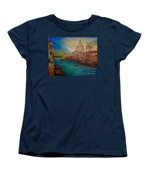 The Venice Of My Recollection With Digital Enhancement Women's T-Shirt (Standard Cut) by Kimberlee Baxter