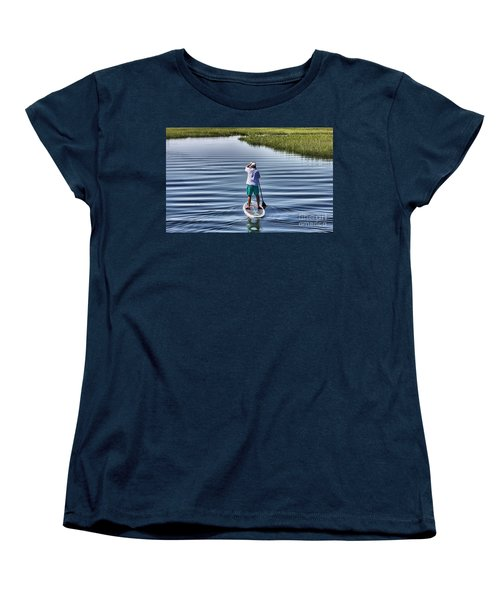 Women's T-Shirt (Standard Cut) featuring the photograph The View From A Bridge by Phil Mancuso