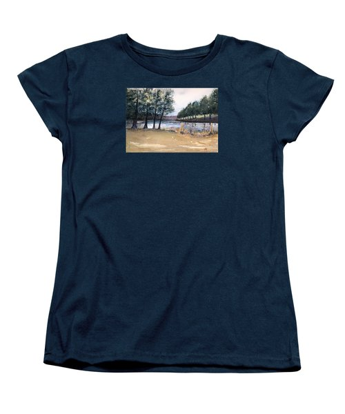 Women's T-Shirt (Standard Cut) featuring the painting The View From Switchboard by Katherine Miller