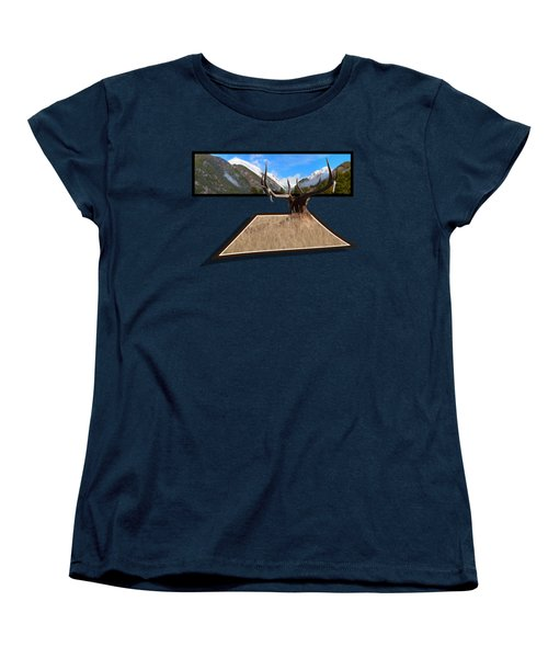 Women's T-Shirt (Standard Cut) featuring the photograph The View by Shane Bechler