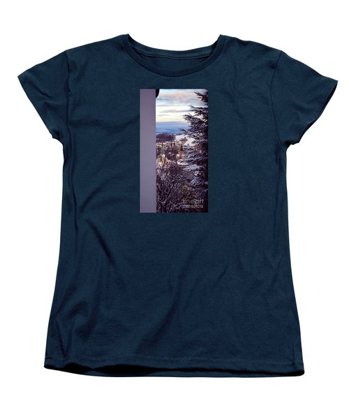 Women's T-Shirt (Standard Cut) featuring the photograph The Village - Winter In Switzerland by Susanne Van Hulst