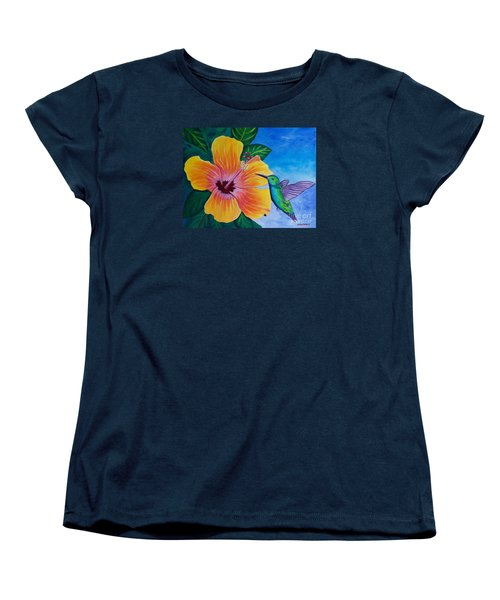The Visitor Women's T-Shirt (Standard Cut) by Laura Forde