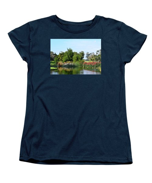 Women's T-Shirt (Standard Cut) featuring the photograph The Water On Number One Santa Maria Country Club by Barbara Snyder