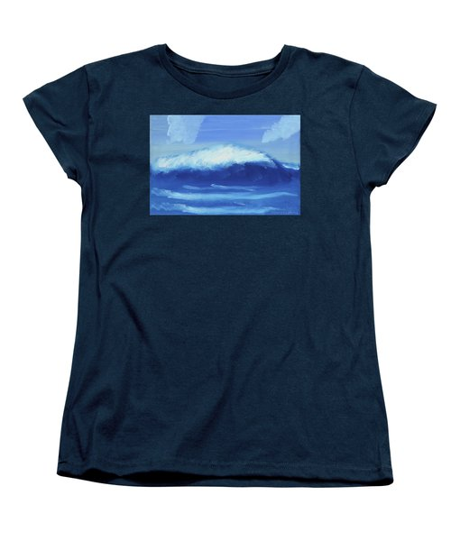 The Wave Women's T-Shirt (Standard Cut) by Artists With Autism Inc