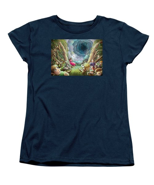 The Wave Of Space And Time Women's T-Shirt (Standard Cut) by Reynold Jay