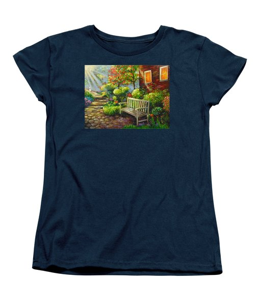 Women's T-Shirt (Standard Cut) featuring the painting The Way Home by Emery Franklin