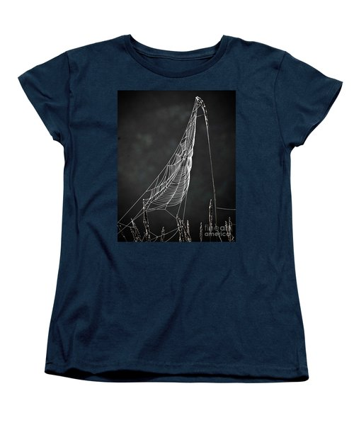 Women's T-Shirt (Standard Cut) featuring the photograph The Web by Tom Cameron