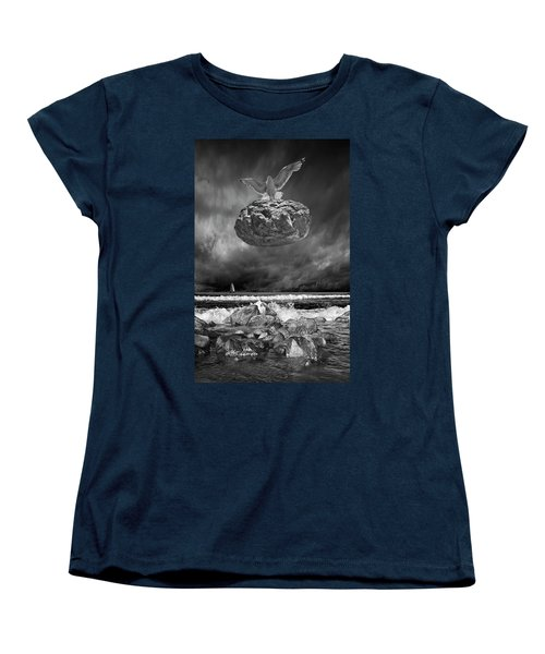 Women's T-Shirt (Standard Cut) featuring the photograph The Weight Is Lifted by Randall Nyhof