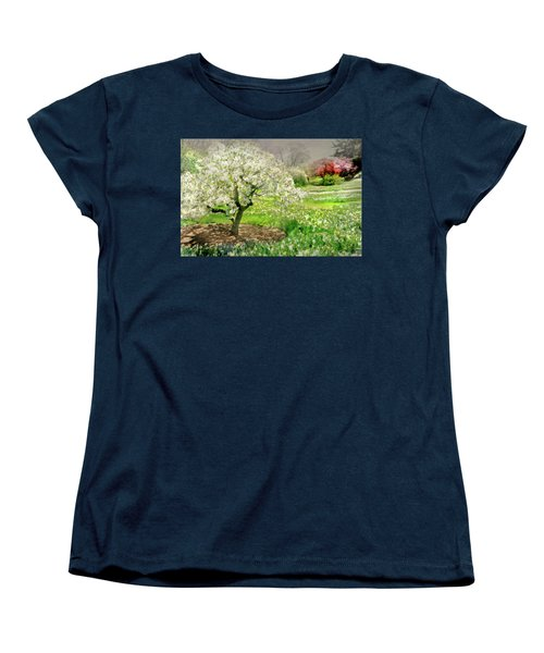 Women's T-Shirt (Standard Cut) featuring the photograph The White Canopy by Diana Angstadt