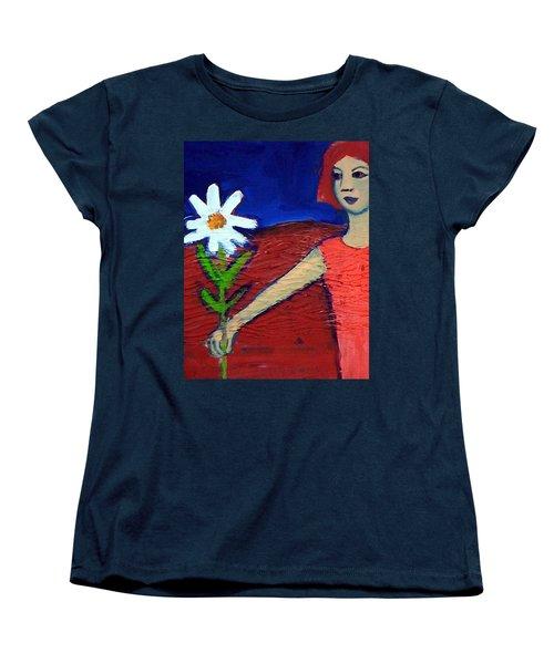 The White Flower Women's T-Shirt (Standard Cut) by Winsome Gunning