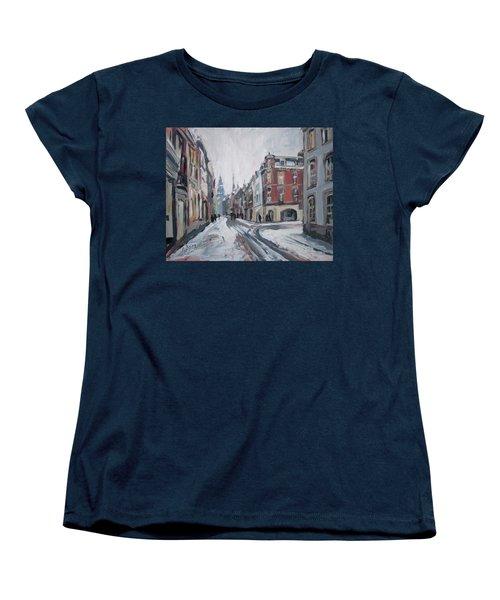 The White Grand Canal Street Maastricht Women's T-Shirt (Standard Cut) by Nop Briex