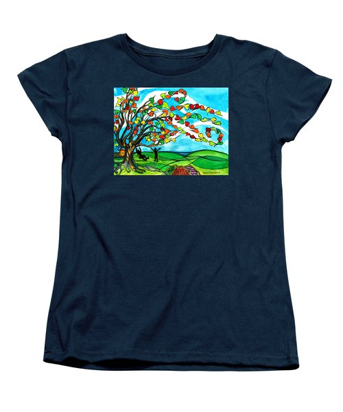 The Windy Tree Women's T-Shirt (Standard Cut) by Genevieve Esson