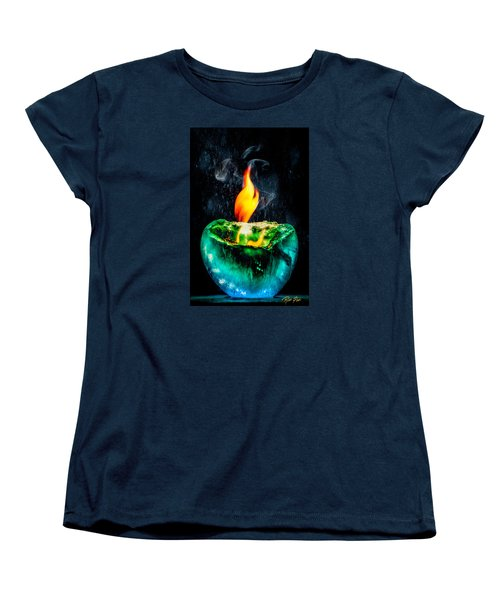 Women's T-Shirt (Standard Cut) featuring the photograph The Winter Of Fire And Ice by Rikk Flohr