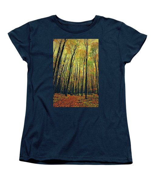 Women's T-Shirt (Standard Cut) featuring the photograph The Woods In The North by Michelle Calkins