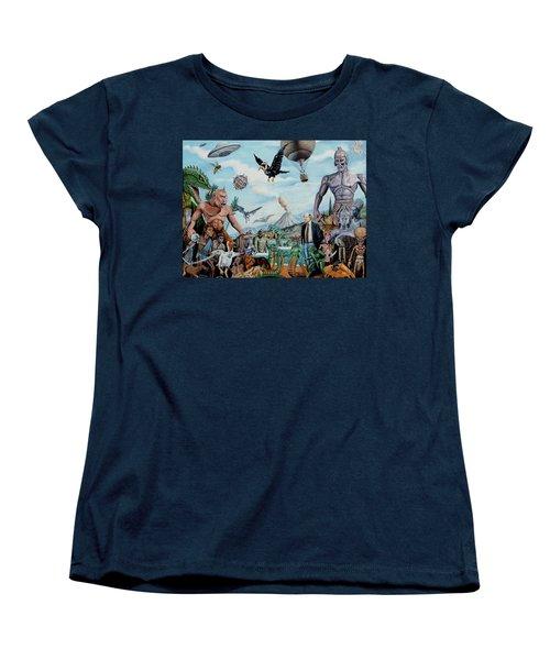 The World Of Ray Harryhausen Women's T-Shirt (Standard Cut) by Tony Banos