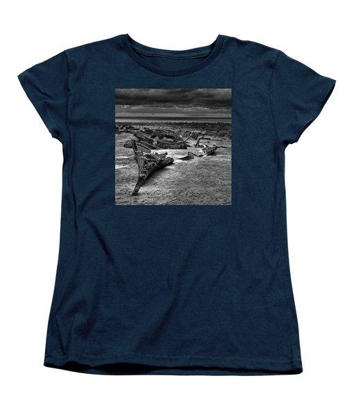 The Wreck Of The Steam Trawler Women's T-Shirt (Standard Cut) by John Edwards