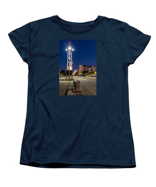 Thea's Landing Boardway During Blue Hour Women's T-Shirt (Standard Cut) by Rob Green