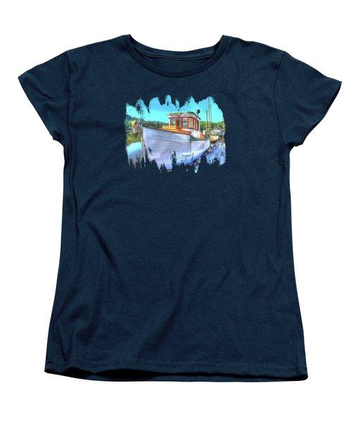 Thee Old Dragger Boat Women's T-Shirt (Standard Cut) by Thom Zehrfeld