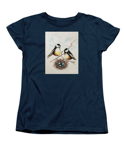 Women's T-Shirt (Standard Cut) featuring the painting Their Family by Elizabeth Robinette Tyndall