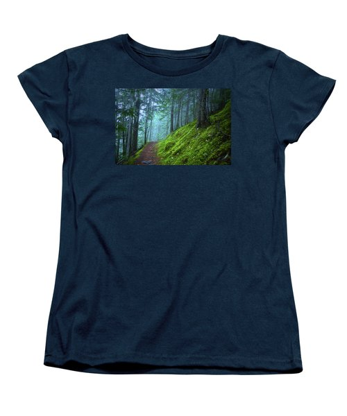 Women's T-Shirt (Standard Cut) featuring the photograph There Is Light In This Forest by Tara Turner