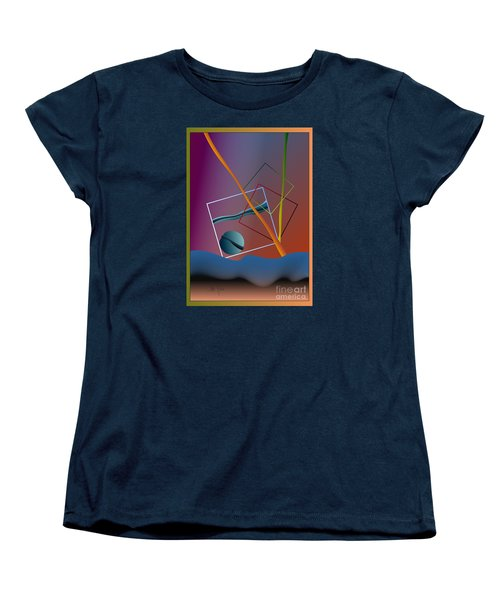 Women's T-Shirt (Standard Cut) featuring the digital art Thinking About The Future by Leo Symon