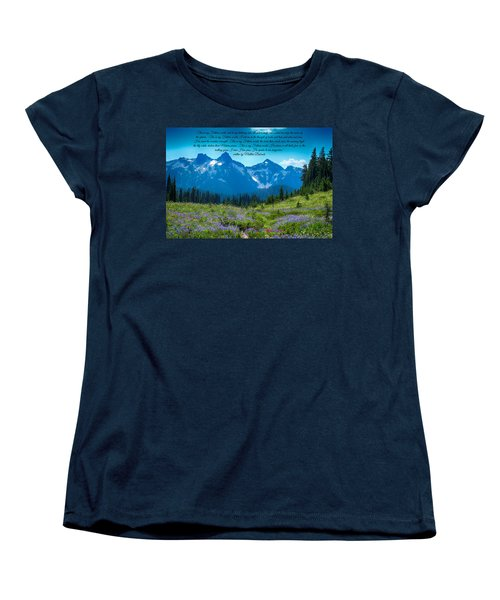 This Is My Fathers World 3 Women's T-Shirt (Standard Cut) by Lynn Hopwood