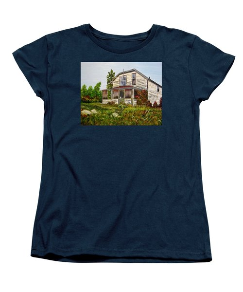Women's T-Shirt (Standard Cut) featuring the painting This Old House by Marilyn  McNish
