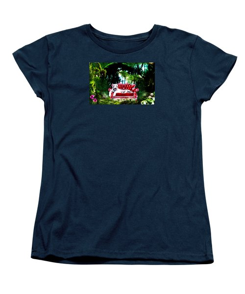 Women's T-Shirt (Standard Cut) featuring the mixed media This Place Is Reserved For The Boss by Gabriella Weninger - David
