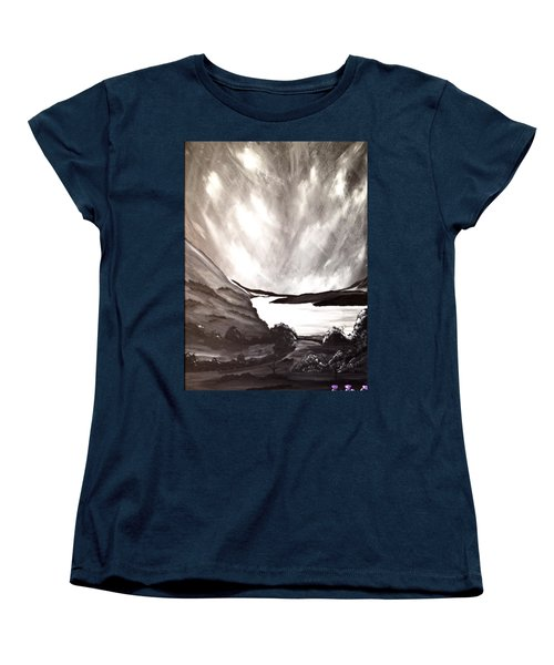 Women's T-Shirt (Standard Cut) featuring the painting Thistle Do Nicely by Scott Wilmot