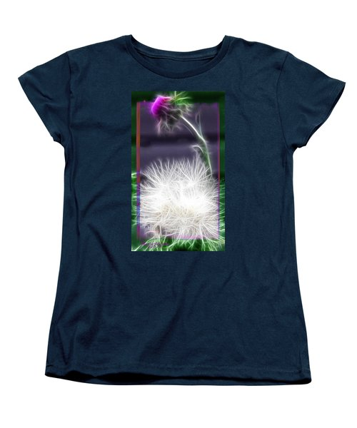 Women's T-Shirt (Standard Cut) featuring the photograph Thistle by EricaMaxine  Price
