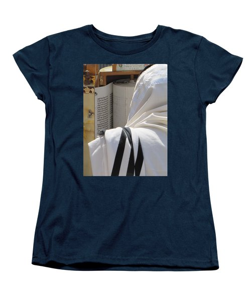 Women's T-Shirt (Standard Cut) featuring the photograph Thora Reading At The Western Wall by Yoel Koskas