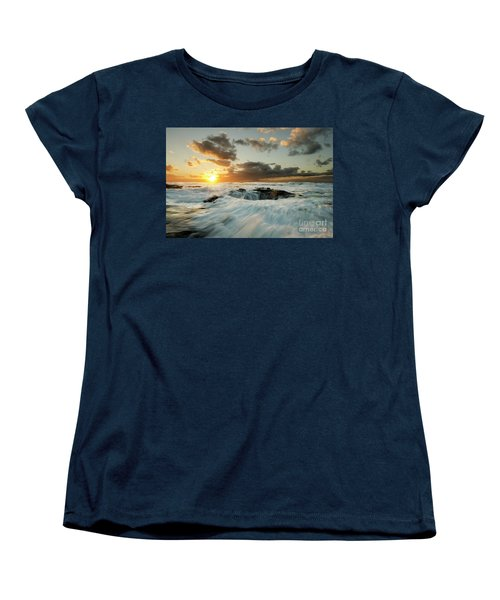 Women's T-Shirt (Standard Cut) featuring the photograph Thors Well Cape Perpetua 1 by Bob Christopher