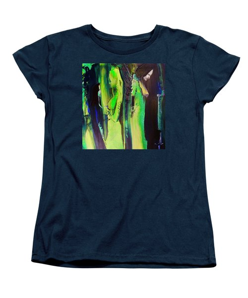 Women's T-Shirt (Standard Cut) featuring the painting Thoughtful Gathering by Kicking Bear Productions