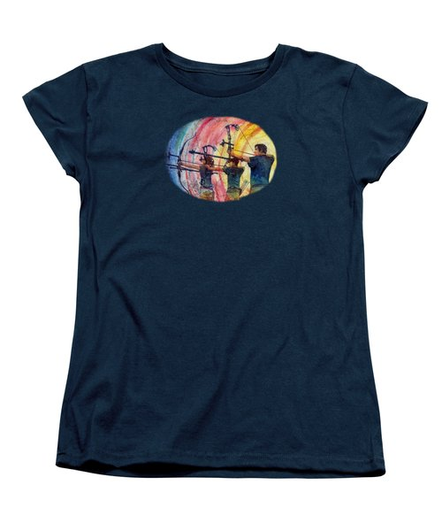 Women's T-Shirt (Standard Cut) featuring the painting Three 10s by Hailey E Herrera