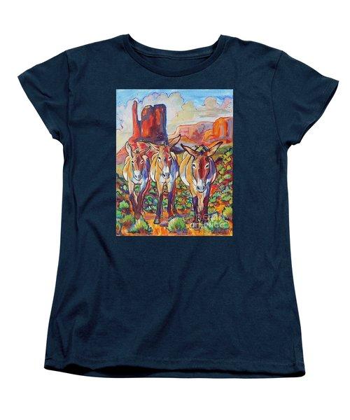 Three Amigos  Women's T-Shirt (Standard Cut) by Jenn Cunningham