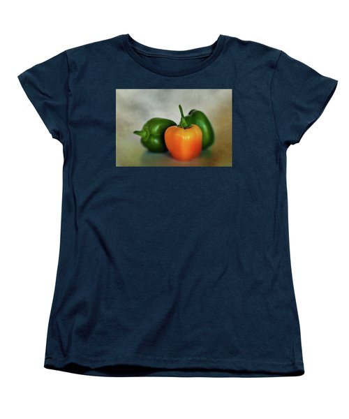 Women's T-Shirt (Standard Cut) featuring the photograph Three Bell Peppers by David and Carol Kelly