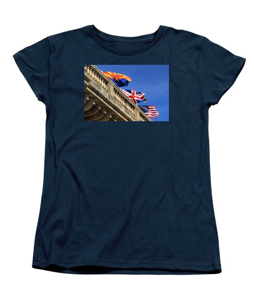 Three Flags At London Bridge Women's T-Shirt (Standard Cut)