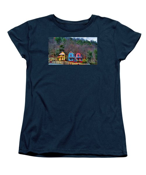 Women's T-Shirt (Standard Cut) featuring the photograph Three Houses Hot Springs Ar by Diana Mary Sharpton
