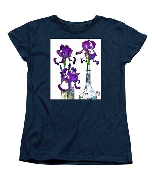Three Irises In Vases Women's T-Shirt (Standard Cut)