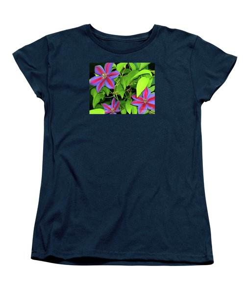 Women's T-Shirt (Standard Cut) featuring the painting Three Jacks by Patricia Griffin Brett