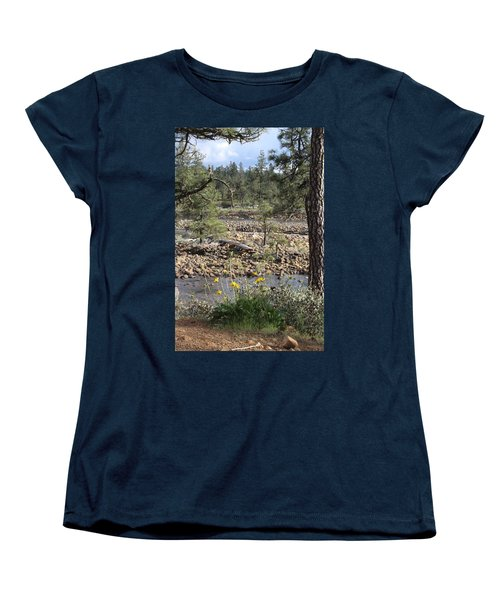Women's T-Shirt (Standard Cut) featuring the photograph Three Rivers In One by Marie Neder